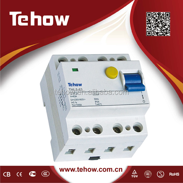 2p 300ma rccb residual current circuit breaker earth leakage current
