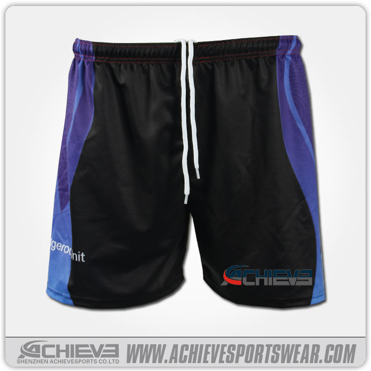 Custom dye sublimation mens microfiber softball shorts