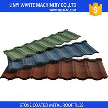 Light roofing system stone coated metal roof tile with elegant design and great color range