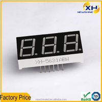 NEWSHINE 0.56 Inch three digits 7 segment led bicolor display