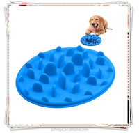 Pizza Design Anti-chocking Silicone Slow Feed Dog Bowl