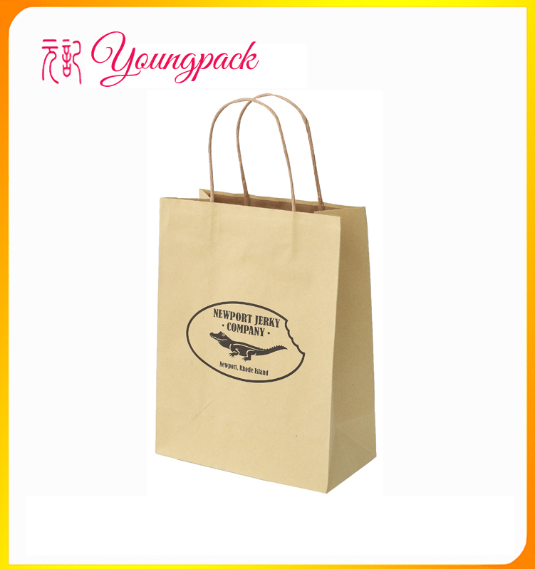 recyclable high quality mini brown paper bags for advertising