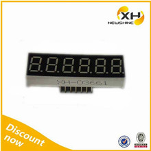 DIP FND Red Blue Numeric 0.36 inch 6 digit 7 segment led display