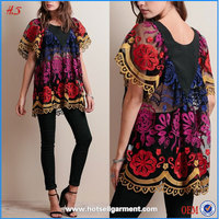 woman clothong top selling products embroidery designs ladies fancy tops black mesh tunic