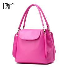 Nice Cheap Women Handmade Rose Red PU Leather Handbags For Ladies