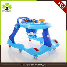 Factory wholesale 2017 New Model Musical Outdoor Height adjustable baby walker mini walker