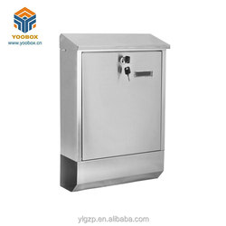 2018 fashion stainless steel home mailbox Wall Mount Mailbox Locking Large Mail Collection Drop Box play us mailbox