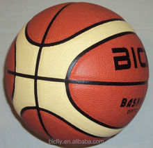 size 7 PVC leather laminated basketball in 12 panels