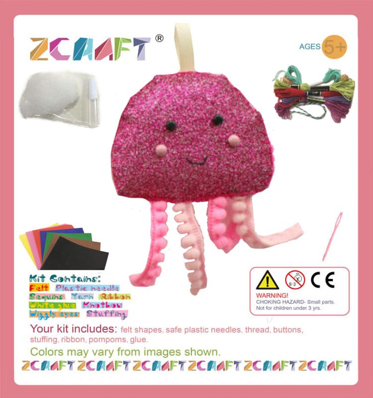 Diy Handmade Stuffed Toy Mini Felt Kits Doll Pdf Instructions For