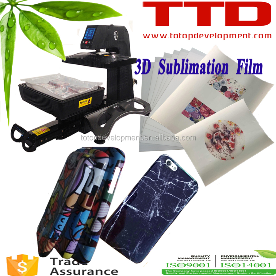 3D sublimation transfer film &3d thermal film for St 420 , A3 size 3D phone case printing film