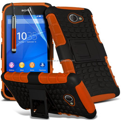 Shockproof Dual Layer Heavy Duty Case Cover & Stand Set For Sony Xperia E4g