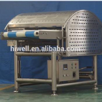 Horizontal meat slicer for fresh chicken breast