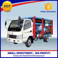 Movable Truck Cinema High Profit Electric 6 Seats Truck Mobile 5D Cinema Mini Cinema Truck