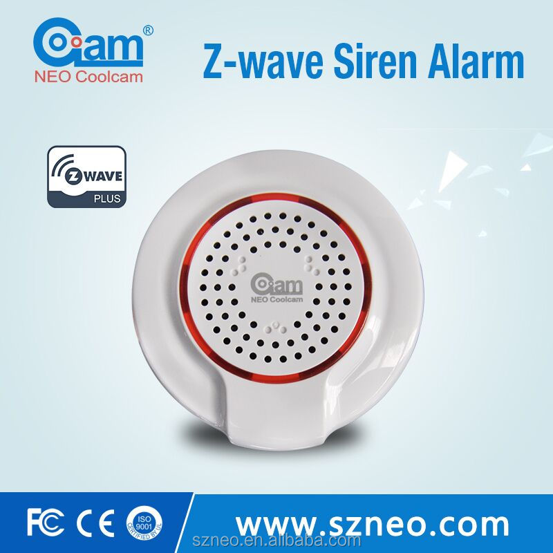 Remote controlled siren working with zwave hub for house alarm system 2016 wireless