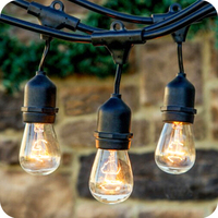 Best selling items 25m patio globe commercial string lights with vintage edison bulbs