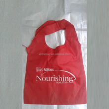 promotional RPET reusable shopping foldable polyester bag at low price