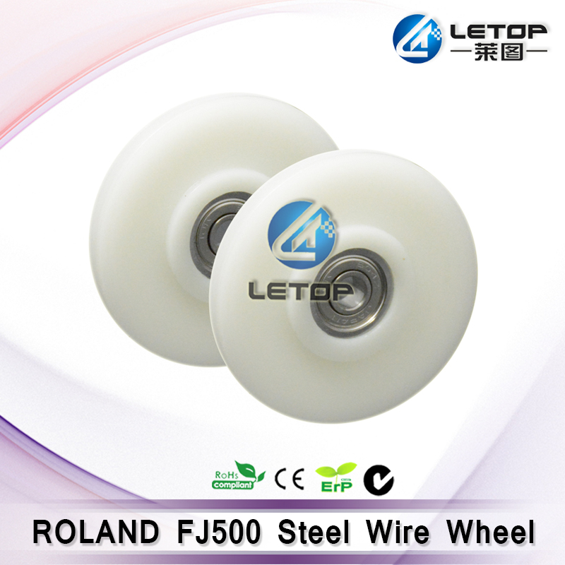 Excellent quality!! Roland solvent printer parts steel wire roller for Roland FJ-500
