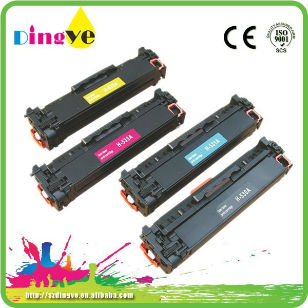 laser toner cartridge for hp CC530/531/532/533A compatible toner cartridge