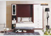 Smart furniture Multifunction wall bed double folded wall bed TA-K12
