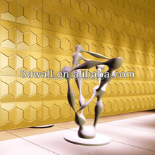 Big size special design PVC wave 3D wallpaper 3D wall panel for interior