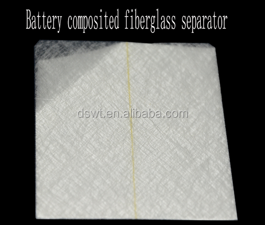 China fiberglass composite battery plate separator with sticky lines,battery separator
