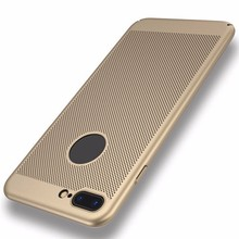 cheap Top Quality Thin Soft TPU Grid Heat Dissipation Mobile Phone Cases for Apple iPhone 5 6 6 7plus 8 Protective Cover Shell