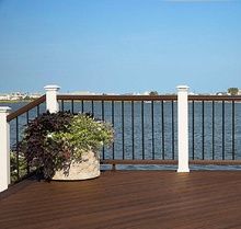 aluminum and zinc power coated steel railing designs for front porch