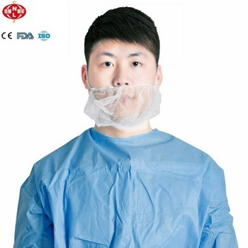 Disposable PP White, Blue Handmade Beardcover for Food Service, Cleaning Room, Health and Safety Area