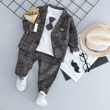 Baby Boys casual Suits Kids Formal Suits with t shirt <strong>set</strong> <strong>Children</strong> Boys <strong>Sets</strong> Blazer Boys Clothes 3pcs <strong>Set</strong>