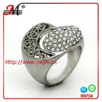 Jingmei fashion simple platinum diamond jewelry ring price in india 2013 R5724C