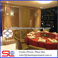 Decorative metal mesh curtain,fancy room dividers