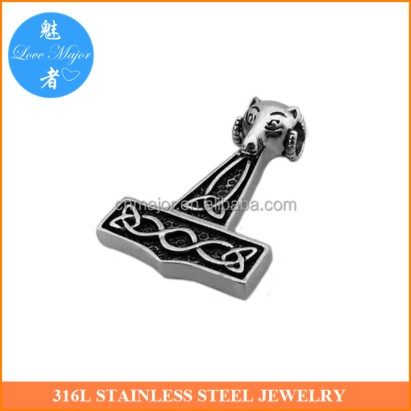 Hammer Stainless Steel Pendant Zodiac Design Fashion Jewelry for Man