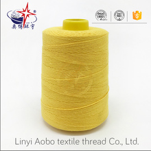 polyester spun yarn dyed/colors sewing small spools thread 40s/2