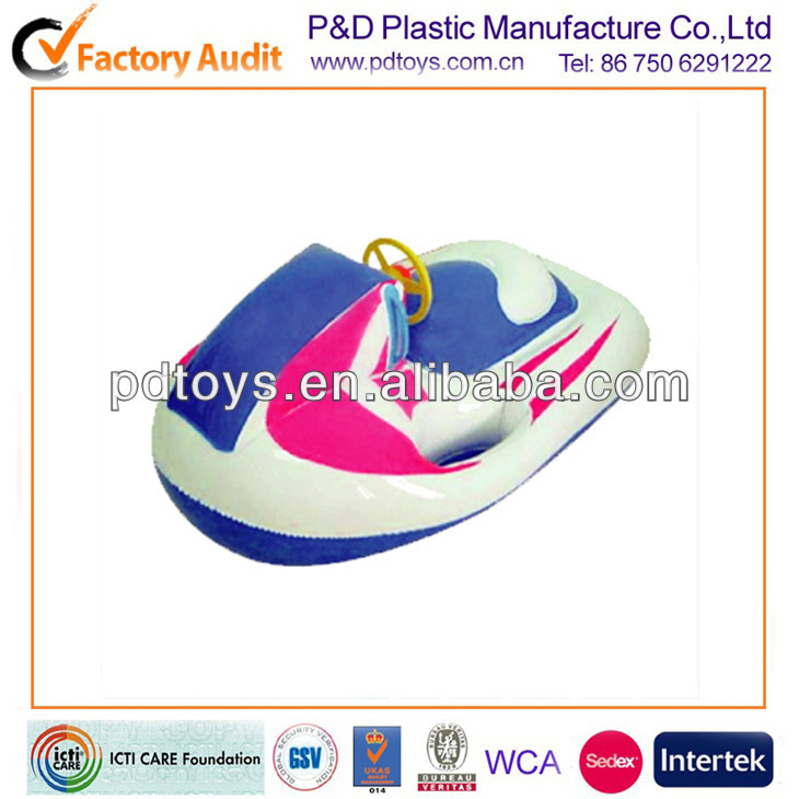 0.5mm PVC Inflatable snow jet skis for kids with steering wheel