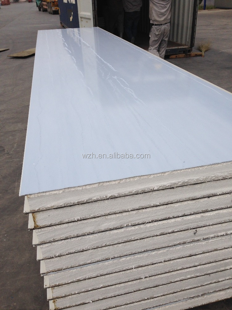 Insulated Heat sandwich panel for cold room of 25mm steel PU sandwich panel
