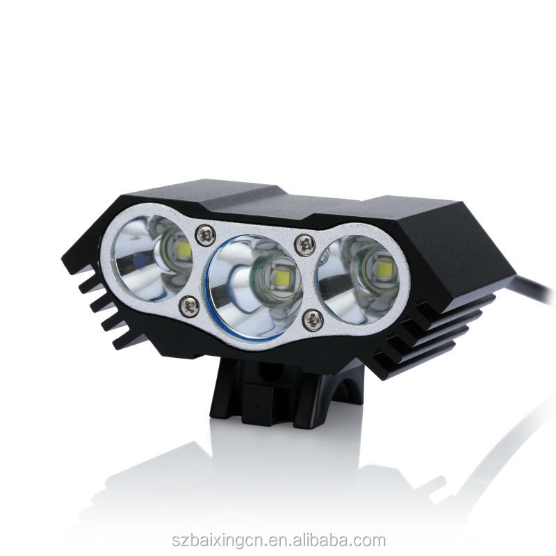 4000LM 3x CREE XM-L XML <strong>U2</strong> LED bike <strong>light</strong>