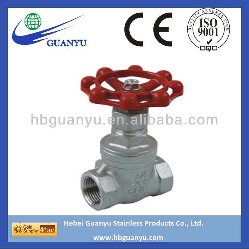 stainless steel 304 316 316L gate valve, 200psi