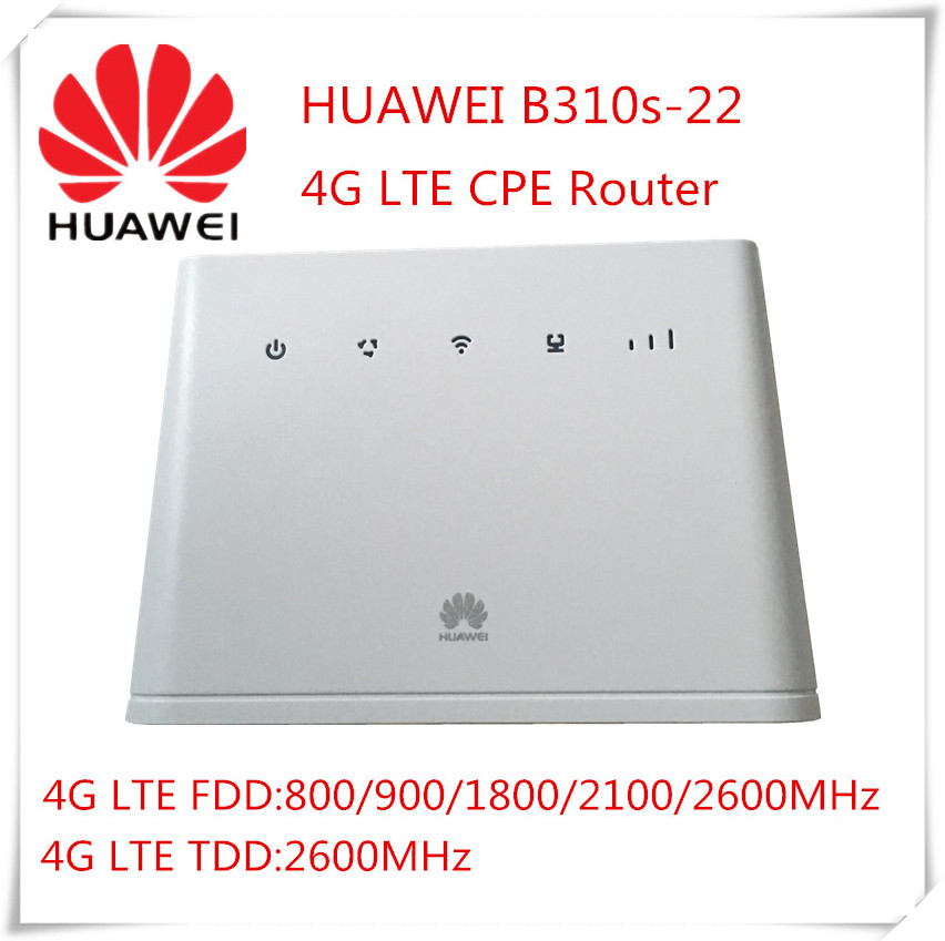 Brand New Unlocked HUAWEI B310s-22 4G LTE CPE Wireless Router 32 WIFI Users 150Mbps 1 sim card 1 RJ11 port 1 RJ45