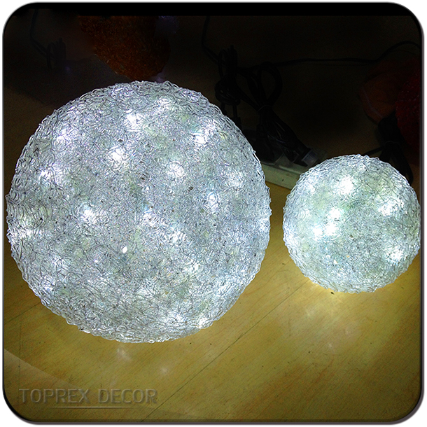 Outdoor large hanging LED lighted christmas ball