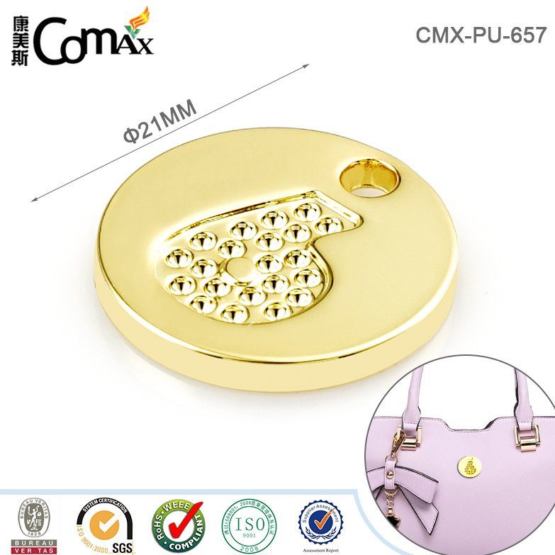 Gold fashion metal custom silver jewelry tags