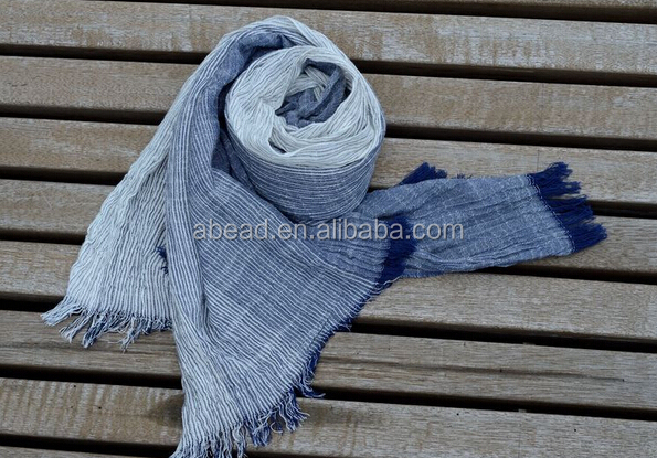 cotton and linen scarf men and women's retro fold scarf