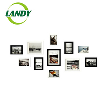 11pcs/set Simple Black/White Inset Style Wooden Wall Picture Frame Home Stairs Decor Photo Frames Set Quality Cheap Photo Frames