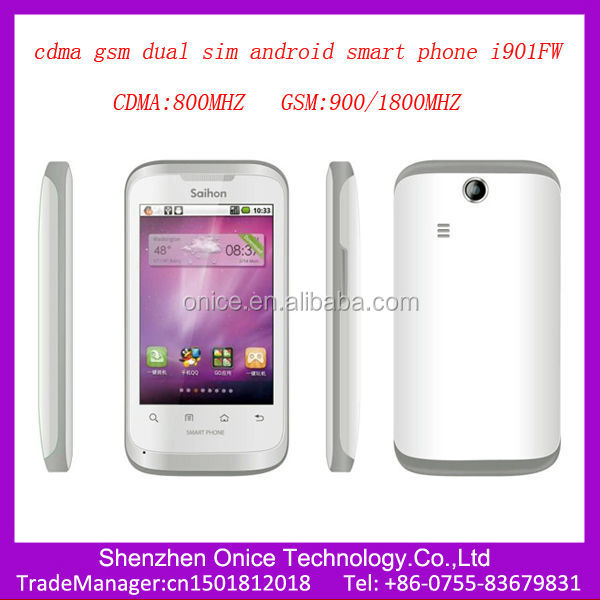 cdma gsm dual sim android smart phone i901FW 3.5 inch touch screen gsm cdma dual sim dual standby mobile phone