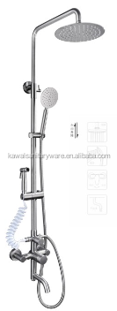 Staineless steel High pressure rainfall small overhead shower head hotel shower head set