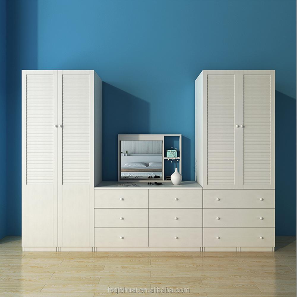 Dressing table designs - Modern Bedroom Furniture Simple Wooden Wardrobe Dressing Table Design