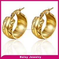 Online Wholesale Shop Wholesale gold 316l stainless steel mens earrings