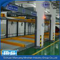Minshan automatic rotary motorcycle parking lift system