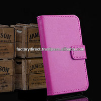 New Style Leather Flip Case Cover Pouch Bumper Wallet for iPhone 4 4G 4S Rose Pink