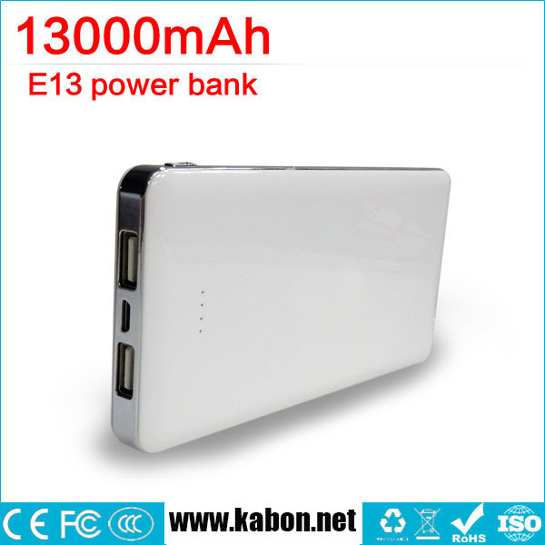 Ultra light super fast charge 13000mah external backup battery ,full capacity power bank
