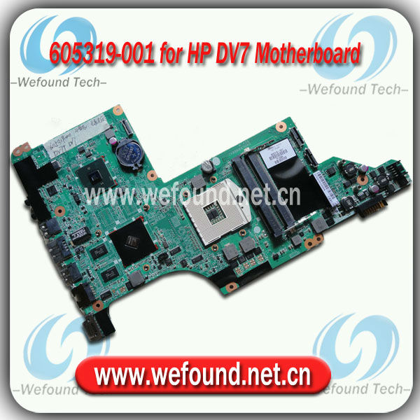 605319-001,Laptop Motherboard for HP DV7 DV7-4000 Series Mainboard,System Board
